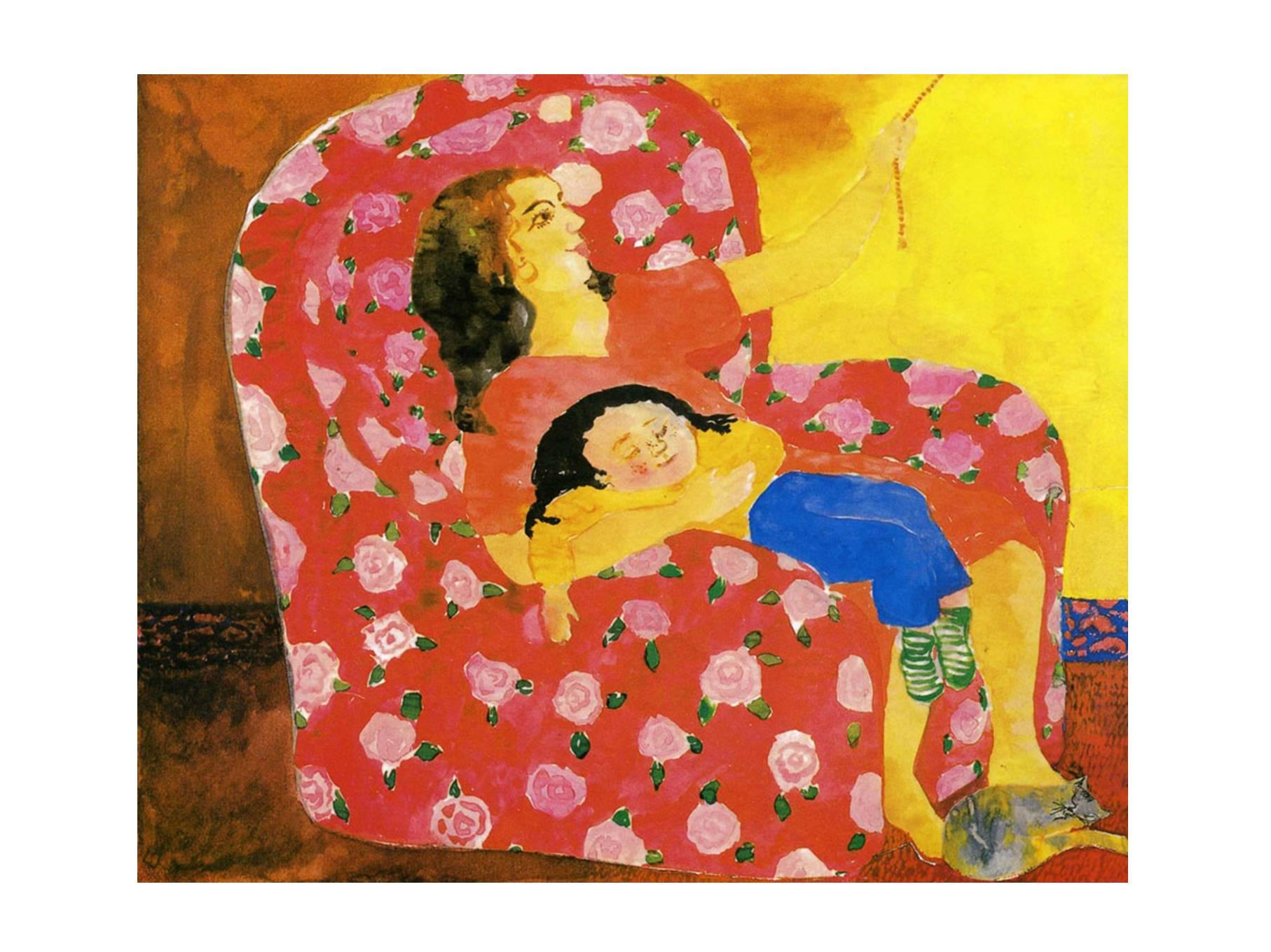 妈妈的红沙发